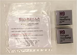 Bulbzilla Bulb Transplant Kit. Substitutes H9 bulbs for H11's to INCREASE OUTPUT BY 60%! Everything you need to convert one set of low beams or fog lights. Includes two H9 standard bulbs. Turn your lights into High Performance Lights with Bulbzilla!