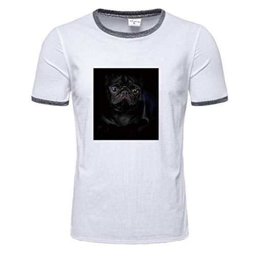 Men's Summer Print Short Sleeve Top Design T-Shirt Casual Tops Blouse