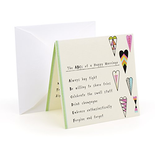 Hallmark Studio Ink Wedding Greeting Card (Colorful Hearts)