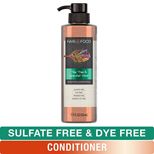 (Sulfate Free Conditioner, Dye Free Purifying Treatment, Tea Tree and Lavender, Hair Food, 17.9 FL OZ )