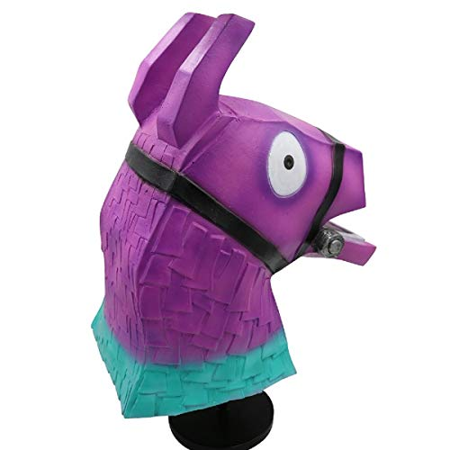 NECHARI Purple Rainbow Horsehead Mask Deluxe Latex Full Head Halloween Cosplay Accessory