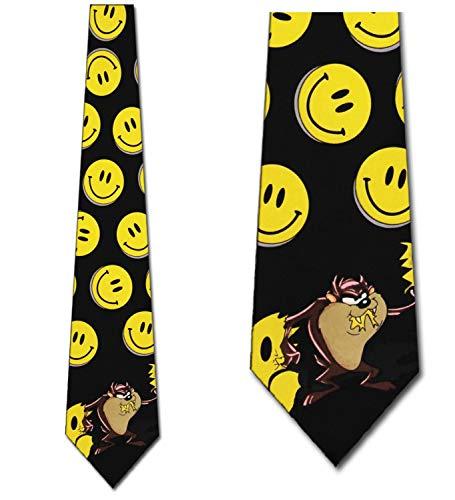 Looney Tunes Smiley Face Taz Tie - Mens Cartoon Neckties ()