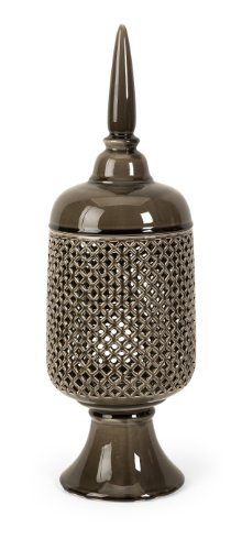 Zumba Large Cutwork Ceramic Canister with Lid by XoticBrands