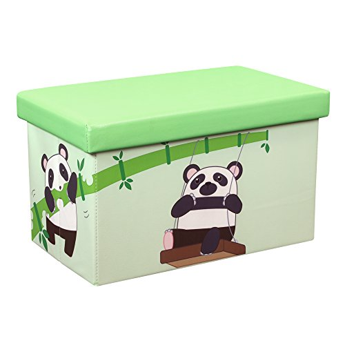"Kids Collapsible Ottoman Toy Books Box Storage Seat Chest: Amazon.com: Dream Tree 23""x15""x15"" Toy Box"