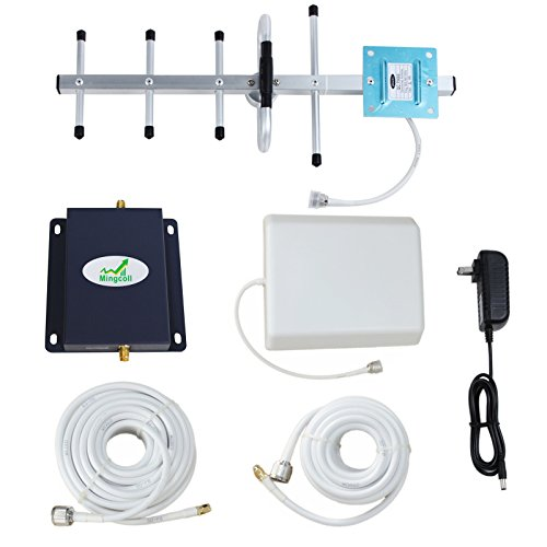 Cell Phone Signal Booster 850MHz 2G 3G Band 5 Signal Amplifier with Indoor Panel Antenna (65dB) by Mingcoll