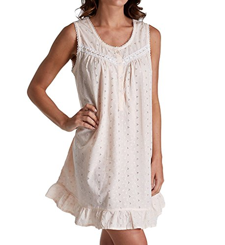 La Cera 100% Cotton Woven Embroidered Short Gown 1333C