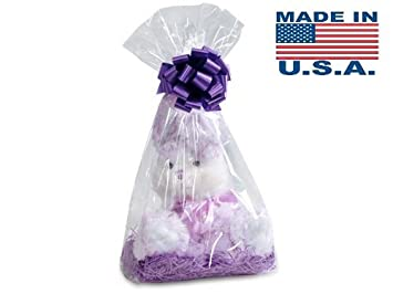 Clear Cellophane Bags Basket Bags Cello Gift Bags Gusset style bag 7 in. X 4