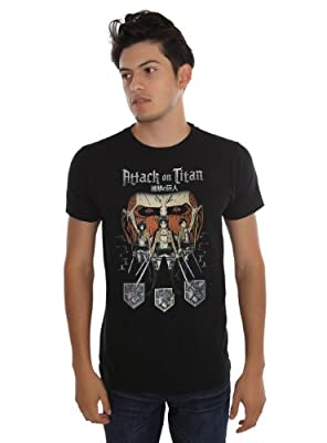 Attack On Titan Characters Slim-Fit T-Shirt