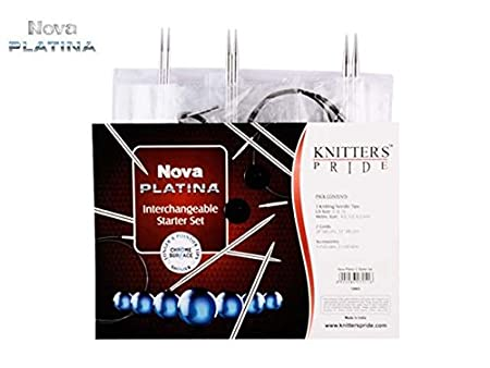 Knitter/'s Pride :Nova Platina Starter Interchangeable Needle Set: Brand New