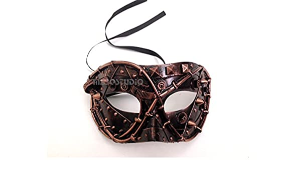 Steampunk Mens Masquerade Ball Mask Burlesque Costume Prom Party Dance Birthday
