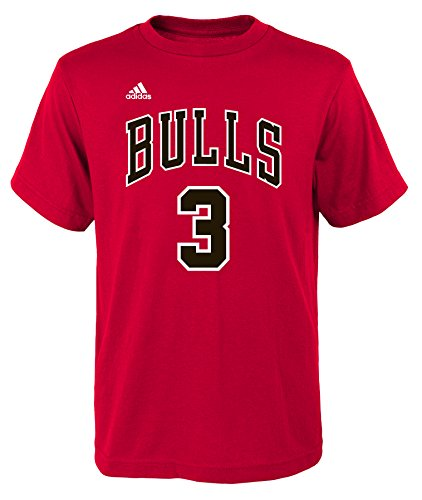 Dwyane Wade Chicago Bulls #three NBA Youth Player Name & Number T-Shirt – DiZiSports Store