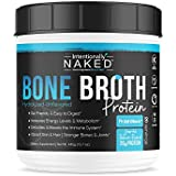 Pure Bone Broth Protein Powder - Zero Net Carbs - Supports Paleo & Keto Diets - Collagen Types 1, 2 & 3 – Grass-Fed, Pasture Raised Cows - Dairy Free, Non-GMO - 20g's Protein, Unflavored, 20 Serving