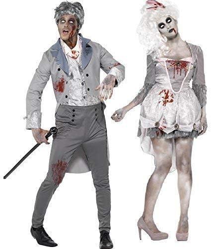 Hombre y Mujer Par Disfraz Zombie Hombre & Mujer Georgia ...