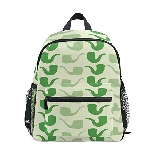 Price comparison product image MONTOJ Green Tobacco Pipe School Bag for Boys Packable School Daypack