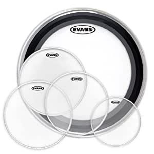 evans drum head pack fusion sizes 10 12 14 14 snare 22 bass musical instruments