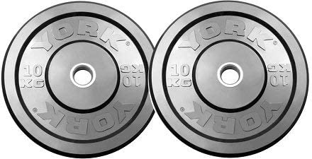 York Barbell 28083 York USA 10 Kg Training Bumper, Black