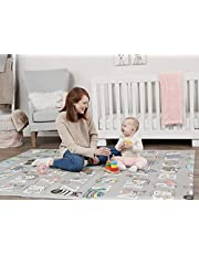 Regalo Sensory & Learning My Play Mat, Foldable & Reversable, Waterproof, Bonus Kit, Includes Travel Case with Carry Strap, Grey, Extra Large