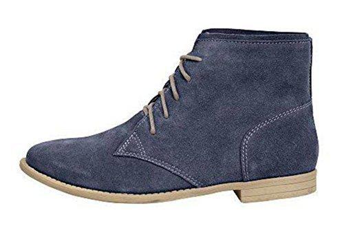 cordones Zapatos Mujer Andrea piel Conti de de de Azul ffwRqvU5