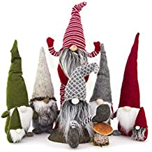 Handmade Christmas Gnome Ornaments For Men, Women & Kids | Well Crafted Luxury Figurines Set For Home Décor, New Year's Eve Parties, Personalized Gifts, Table Centerpieces, Garden (Family Set)