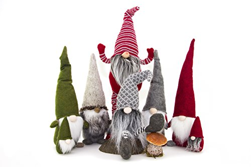 Handmade Christmas Gnome Ornaments For Men, Women & Kids | Well Crafted Luxury Figurines Set For Home Décor, New Year's Eve Parties, Personalized Gifts, Table Centerpieces, Garden (Family Set)]()