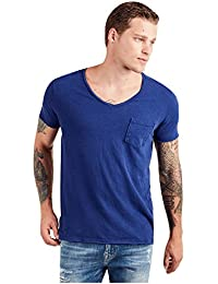 Men's Vneck Chest Pocket Short Sleeve Tee Shirts