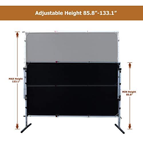 Outdoor Indoor Projector Screen with Stand, 144 inch HD Foldable Portable Projector Screen, 8K 4K 3D 16:9 Projection Movie Screen for Home Theater Camping Recreational Events, Waterproof, Anti-Crease by Stamo (Image #9)