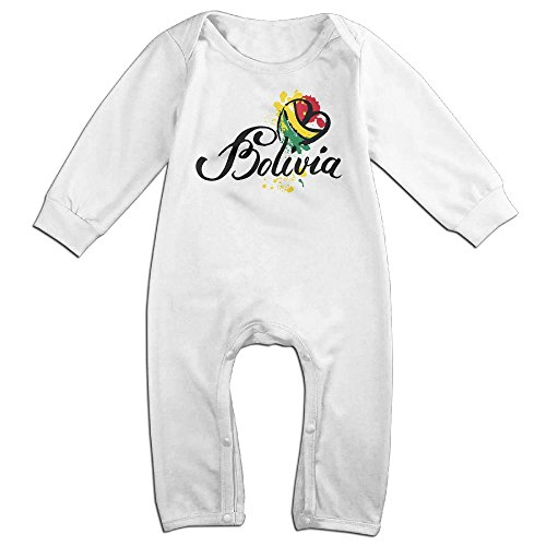 Bolivia National Flag Boy & Girl Long Sleeve Climbing Clothes Sets Size 18 Months White (Daily Planet Happy Halloween)