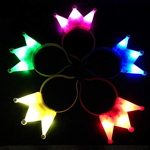 (30pcs Party Hair Decoration Toy Colorful Led Light Crown Kids Supplies Gift Accessory)