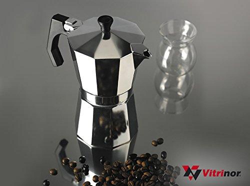 Vitrinor Cafetera Italiana Classic 9 Tazas Aluminio: Amazon.es: Hogar