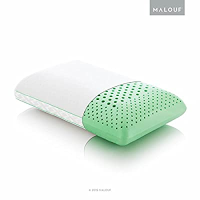 Z ZONED DOUGH Memory Foam Pillow Infused with Real Peppermint - Natural Peppermint Oil Aromatherapy Pillow Spray Included