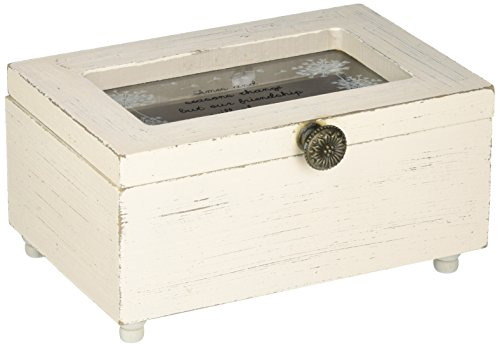 Pavilion Gift Company 77119 Dandelion Wishes - Times and Seasons Change but Our Friendship Will Always Remain Vintage Style Jewelry Box with Glass Window