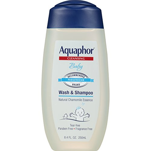 Aquaphor Baby Wash & Shampoo 8.4 fl. oz. (Pack of 3) - Pediatrician Recommended Brand