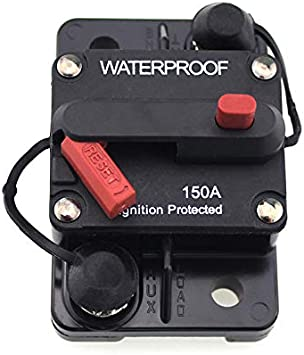 200A AMP Circuit Breaker 12-48V DC Boat Auto automatic Fuse Reset Waterproof