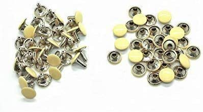 100x Double Cap Rivet Tubular Metal Leather Craft Repairs Studs Punk Spike Decor