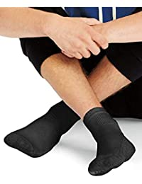 Mens X-Temp Comfort Cool Vent Crew Socks (Black, Shoe...