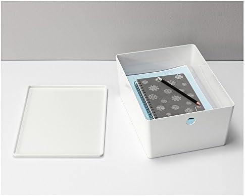 IKEA KUGGIS - Caja con tapa blanca: Amazon.es: Hogar