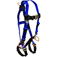 FallTech 7017 Contractor Full Body Harness with 3 D-Rings and Mating Buckle Leg Straps, Universal Fit by FallTech