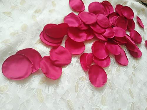 Kingsnow 200PCS Artificial Satin Rose Petals for Weddings, Burgundy Red Rose Decorations for Wedding Party, Bridal Shower Decor, Flower Girl Basket, Aisle Centerpieces Table Petals