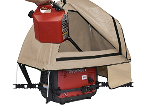 GenTent 10K Generator Tent Running Cover - XKI Kit (Standard, TanLight) - Compatible with 1000w-3000w Inverter Generators by GenTent Safety Canopies (Image #3)