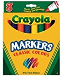 Crayola 8 Nontoxic Classic Colors Markers 8 pk (Pack of 6)