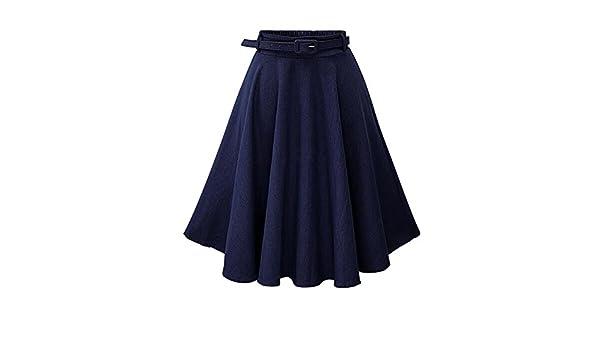 8802384e6 Moollyfox Mujer Faldas Vaquera Cintura Alta Falda Plisada Corto Vestidos De Fiesta  Azul Marino Freesize  Amazon.es  Deportes y aire libre