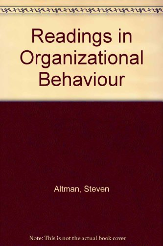 Readings in Organizational Behaviour