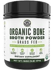 Organic Grass Fed Beef Bone Broth Protein Powder. 16oz, 20 Servings. Unflavored, Keto Friendly Protein Powder. Paleo, USDA Certified Organic by Left Coast Performance
