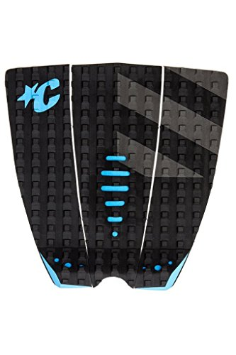 Traction Black Pad (Creatures of Leisure Mick Fanning Shortboard Traction Pad Black Grey Cyan)