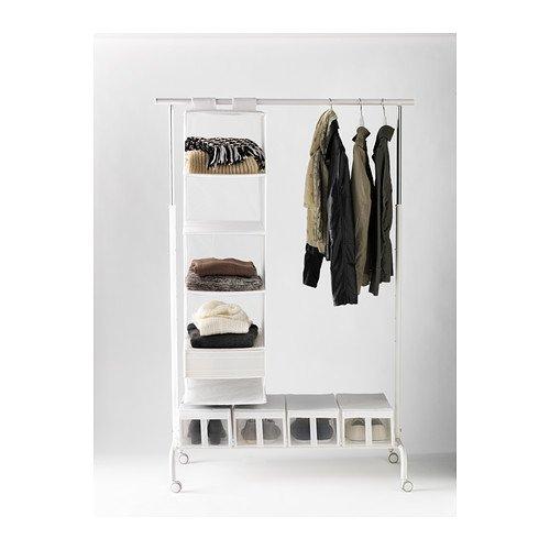 IKEA RIGGA Garderobenständer in weiß; 2 Stück Kleiderständer
