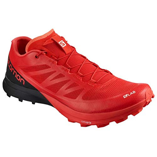 Salomon Unisex S/LAB Sense 7 SG Trail Running Shoe, Racing Red/Black/White, 11