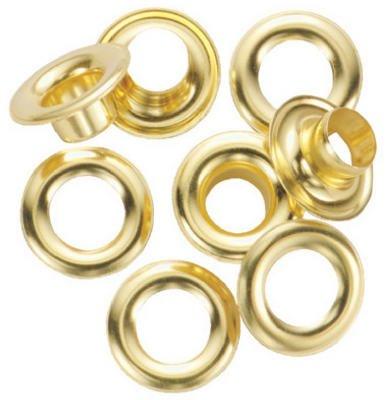 General 1261-0 #0 Brass Grommet Refills 24 Count - Kit Grommet Refill