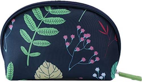化粧品袋 大小パターンZIP形式気質主催ストレージポーチ女性の女の子とバッグ化粧ケースバニティケースメイクアップ 旅行化粧収納ボックス (Color : Leaf)