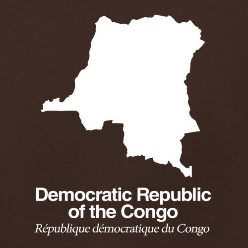 Democratic Republic of the Congo / Demokratische Republik Kongo Silhouette - Damen T-Shirt - Dunkles Schokobraun - L