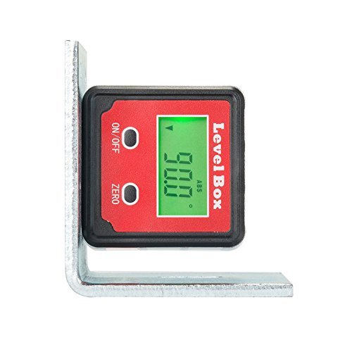 CO-Z Digital Angle Gauge/Level/ Protractor/Angle Finder/Bevel Gauge/Inclinometer/ with Backlight and Magnetic Base, Electronic Angle Finding for Table Miter Brand Saw, Accurate Digital Level
